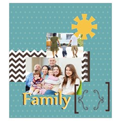 Family By Family   Drawstring Pouch (medium)   3tv1ij5r9kxc   Www Artscow Com Front
