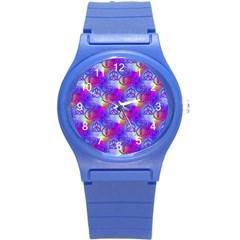 Rainbow Led Zeppelin Symbols Plastic Sport Watch (small) by SaraThePixelPixie