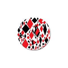 Distorted Diamonds In Black & Red Golf Ball Marker by StuffOrSomething