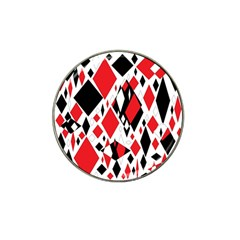 Distorted Diamonds In Black & Red Golf Ball Marker 10 Pack (for Hat Clip) by StuffOrSomething