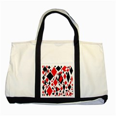 Distorted Diamonds In Black & Red Two Toned Tote Bag by StuffOrSomething