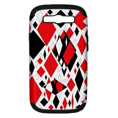 Distorted Diamonds In Black & Red Samsung Galaxy S Iii Hardshell Case (pc+silicone) by StuffOrSomething