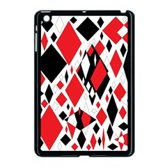 Distorted Diamonds In Black & Red Apple Ipad Mini Case (black) by StuffOrSomething