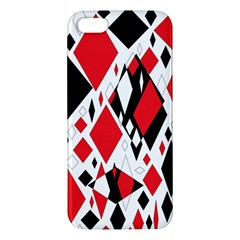 Distorted Diamonds In Black & Red Apple Iphone 5 Premium Hardshell Case by StuffOrSomething