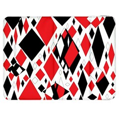 Distorted Diamonds In Black & Red Samsung Galaxy Tab 7  P1000 Flip Case