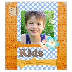 Flower Kids By Joely   Drawstring Pouch (medium)   Rppj7mdsbleq   Www Artscow Com Back