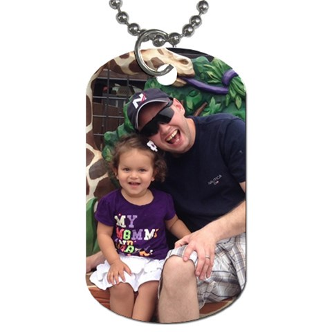 Daddy And Baby By Jalpa   Dog Tag (one Side)   76n8mvjh0snv   Www Artscow Com Front