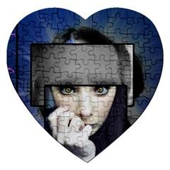 Fibro Brain Jigsaw Puzzle (heart) by FunWithFibro
