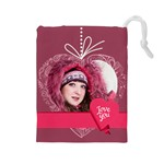 love - Drawstring Pouch (Large)
