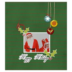 Drawstring Pouch: (l) Happy Holidays By Jennyl   Drawstring Pouch (large)   2593z9r0vp4u   Www Artscow Com Front