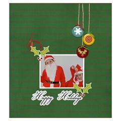 Drawstring Pouch (m): Happy Holidays By Jennyl   Drawstring Pouch (medium)   Z94o316jw5qm   Www Artscow Com Front