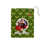 Drawstring Pouch (M): Merry Christmas2 - Drawstring Pouch (Medium)