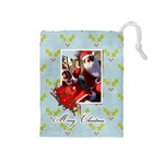 Drawstring Pouch (M): Merry Christmas3 - Drawstring Pouch (Medium)