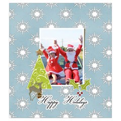 Drawstring Pouch (m): Snowflakes By Jennyl   Drawstring Pouch (medium)   61qpytp2h2f5   Www Artscow Com Back