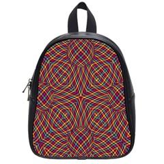 Trippy Tartan School Bag (small) by SaraThePixelPixie