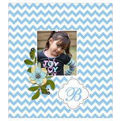 Drawstring Pouch (l): Chevron Blue By Jennyl   Drawstring Pouch (large)   Cpio68rycujt   Www Artscow Com Back