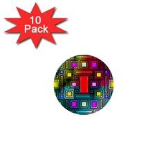 Abstract Modern 1  Mini Button (10 Pack) by StuffOrSomething
