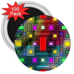 Abstract Modern 3  Button Magnet (100 Pack) by StuffOrSomething