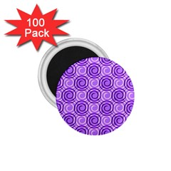 Purple And White Swirls Background 1 75  Button Magnet (100 Pack) by Colorfulart23