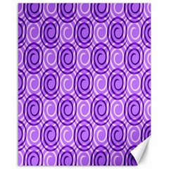 Purple And White Swirls Background Canvas 16  X 20  (unframed) by Colorfulart23