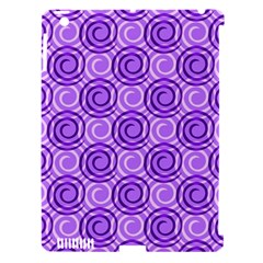 Purple And White Swirls Background Apple Ipad 3/4 Hardshell Case (compatible With Smart Cover) by Colorfulart23