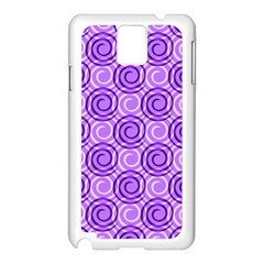 Purple And White Swirls Background Samsung Galaxy Note 3 N9005 Case (white) by Colorfulart23