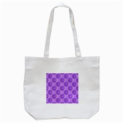 Purple And White Swirls Background Tote Bag (white) by Colorfulart23