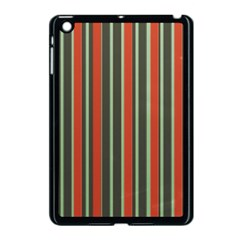 Festive Stripe Apple Ipad Mini Case (black) by Colorfulart23