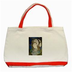 Beware Of Strangers (2) Classic Tote Bag (Red)