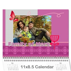 Family By Family   Wall Calendar 11  X 8 5  (12 Months)   Y9dzizq9lhdq   Www Artscow Com Cover