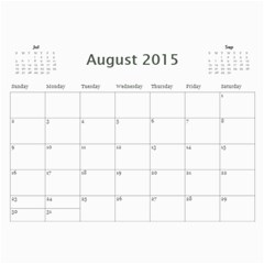 Family By Family   Wall Calendar 11  X 8 5  (12 Months)   Y9dzizq9lhdq   Www Artscow Com Aug 2015