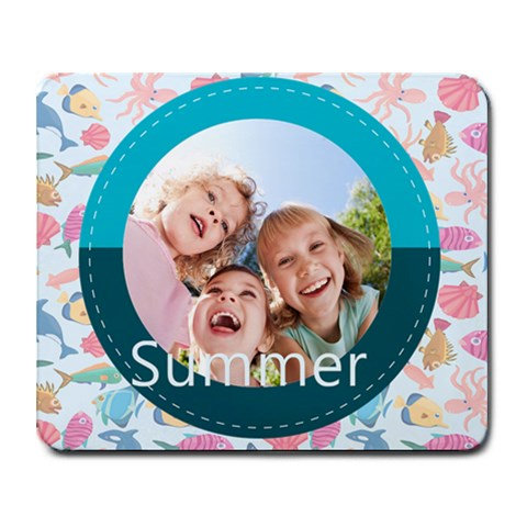 Summer By Summer Time    Collage Mousepad   Q4jxk71grtfj   Www Artscow Com 9.25 x7.75 Mousepad - 1