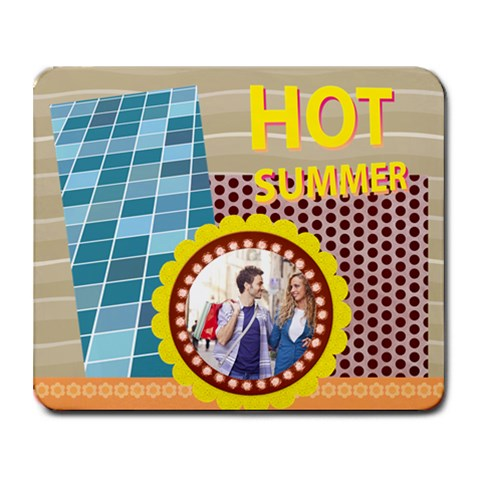 Summer By Summer Time    Collage Mousepad   Dfrveckdqm8x   Www Artscow Com 9.25 x7.75 Mousepad - 1