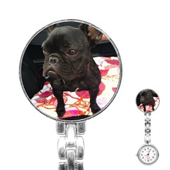 French Bulldog Sitting Stainless Steel Nurses Watch by StuffOrSomething