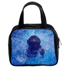 French Bulldog Swimming Classic Handbag (two Sides) by StuffOrSomething