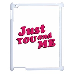 Just You And Me Typographic Statement Design Apple Ipad 2 Case (white) by dflcprints