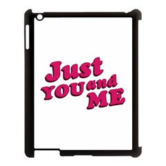 Just You And Me Typographic Statement Design Apple Ipad 3/4 Case (black) by dflcprints