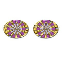 Circle Of Emotions Cufflinks (oval) by FunWithFibro