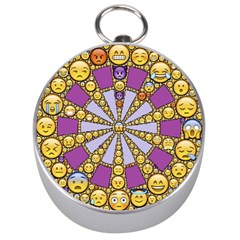 Circle Of Emotions Silver Compass by FunWithFibro