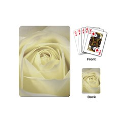 Cream Rose Playing Cards (mini) by Colorfulart23