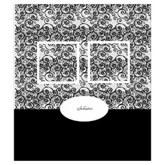 Black And White Drawstring Pouch (small) By Deborah   Drawstring Pouch (small)   247eau1hrye2   Www Artscow Com Front