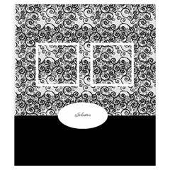 Black And White Drawstring Pouch (small) By Deborah   Drawstring Pouch (small)   247eau1hrye2   Www Artscow Com Back