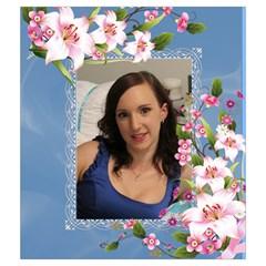 Pink Floral Drawstring Pouch (medium) By Deborah   Drawstring Pouch (medium)   2e3zwfumdry6   Www Artscow Com Back