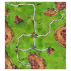 Bag Carcassonne By Mariana   Drawstring Pouch (large)   G835h8s813yg   Www Artscow Com Back