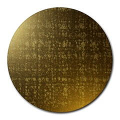 Gold 8  Mouse Pad (Round) by Colorfulart23