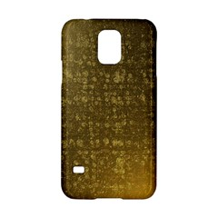 Gold Samsung Galaxy S5 Hardshell Case  by Colorfulart23