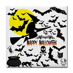 Happy Halloween Collage Ceramic Tile by StuffOrSomething