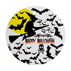 Happy Halloween Collage Round Ornament by StuffOrSomething