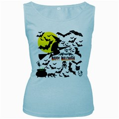 Happy Halloween Collage Women s Tank Top (baby Blue) by StuffOrSomething