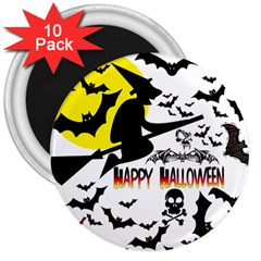 Happy Halloween Collage 3  Button Magnet (10 Pack) by StuffOrSomething